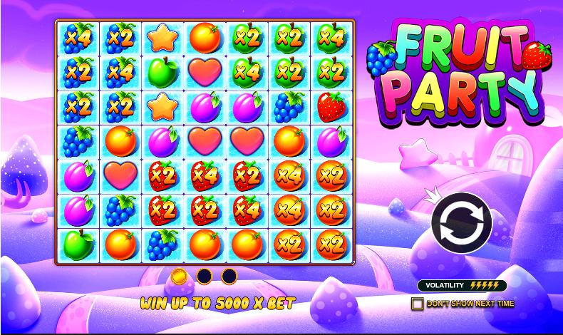 Fruit Party สล็อตออนไลน์ ฟรีเครดิต